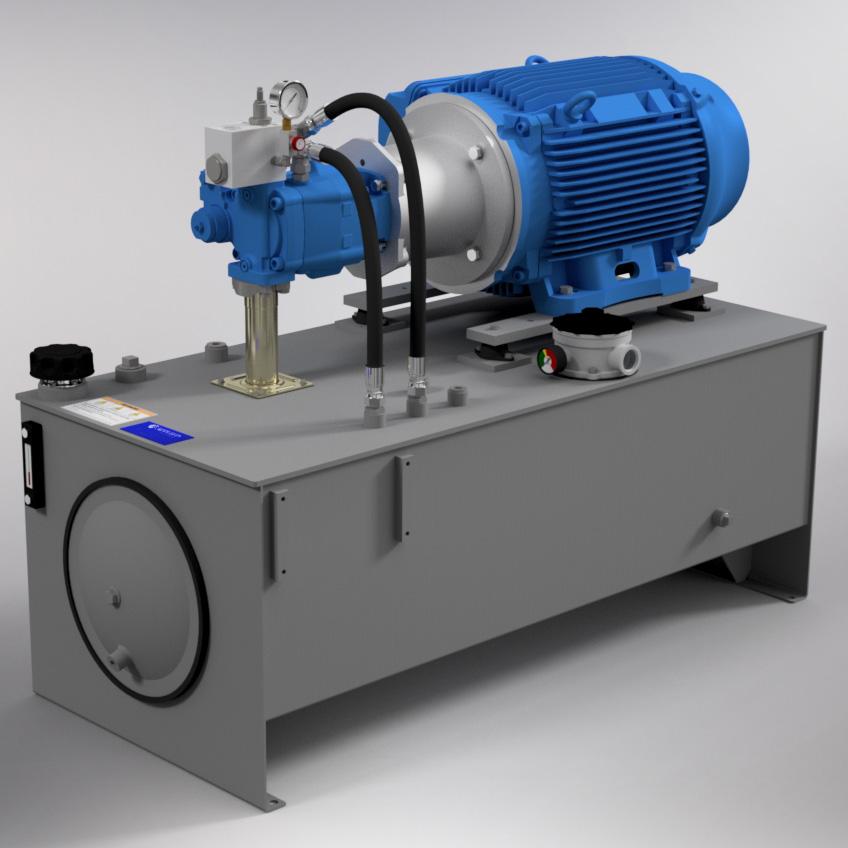 75 HP High-Pressure Hydraulic Power Unit